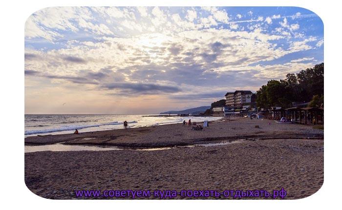 Лермонтово фото поселка и пляжа. Фото туристов