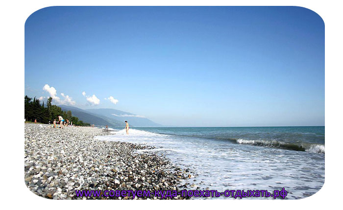 Цандрипш фото города и пляжа. Поселок Цандрипш