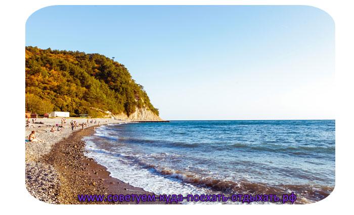 Кабардинка на карте черноморского побережья. Курорт Кабардинка
