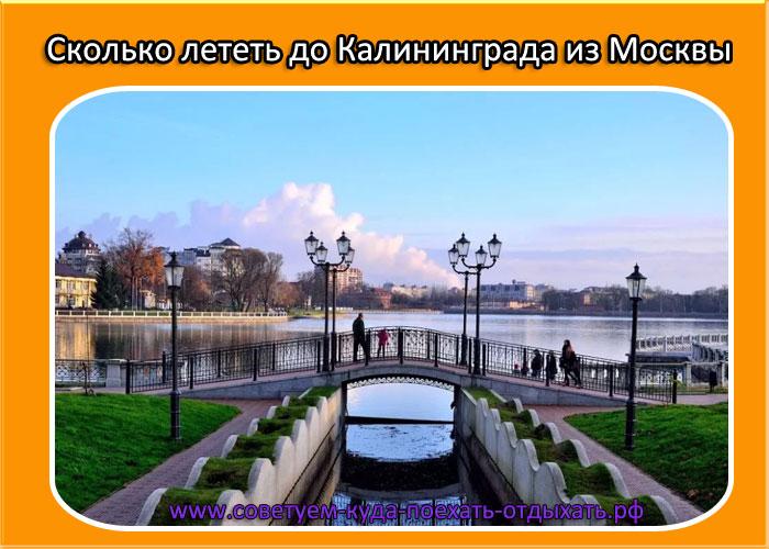Сколько лететь до Калининграда из Москвы – прямым рейсом, с пересадкой